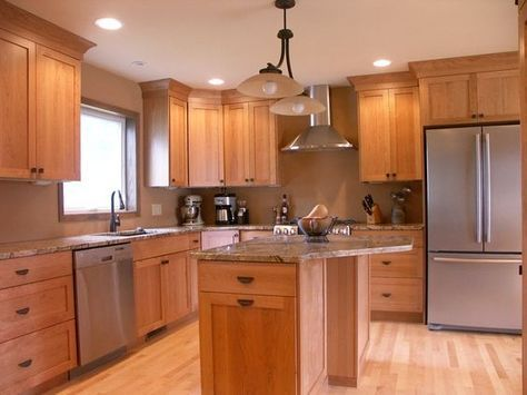 Natural Cherry Kitchen Cabinets Just The Cabinets Mind You