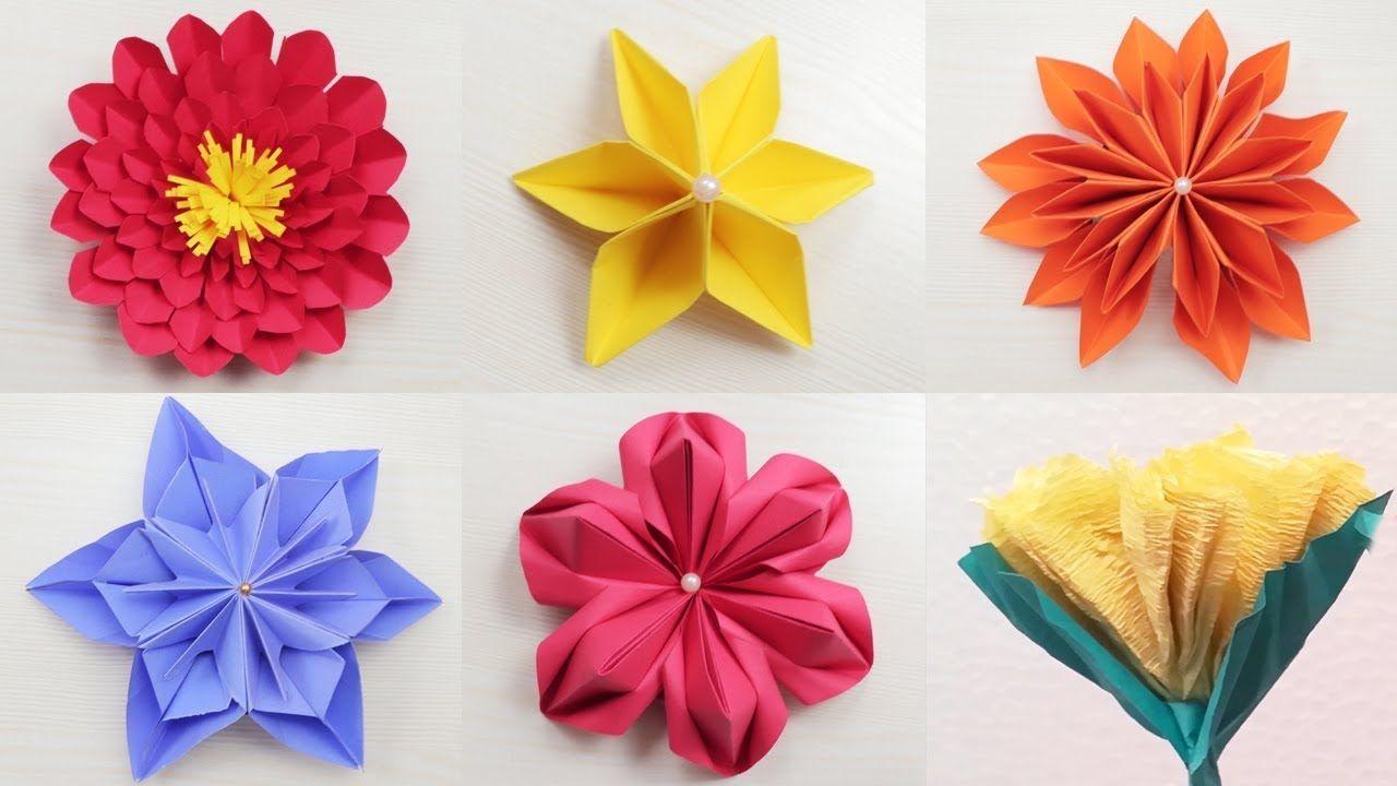 9 Beautiful Paper Flower Ideas Diy Hand Made Paper Crafts
