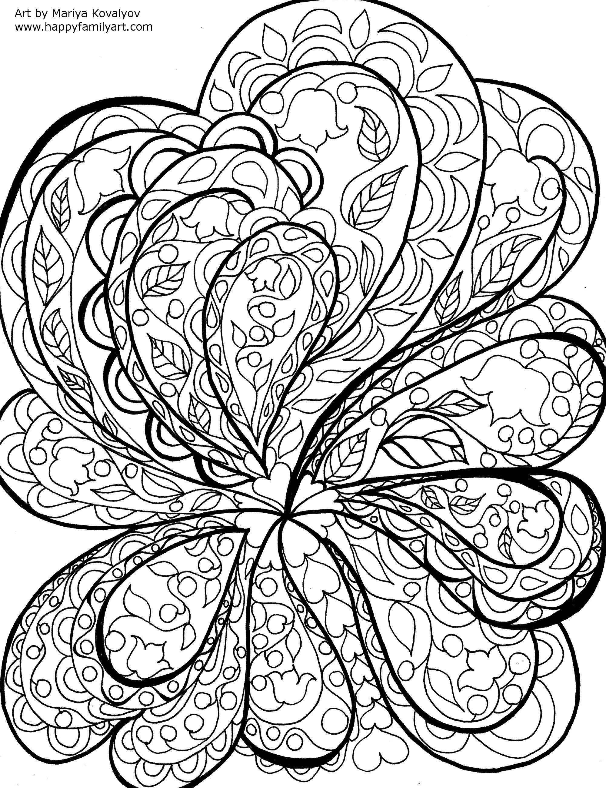 Adult Coloring Pages Nature Patterns Abstract Coloring Pages