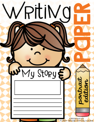 Lined writing paper. Portrait orientation. Use for journal writing, research, letter writing, lists, or word work activities.