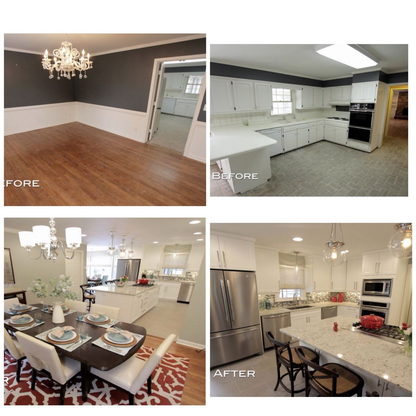 Kitchen Staging Before And After: Suburban Atlanta Kitchen Before And After (Property