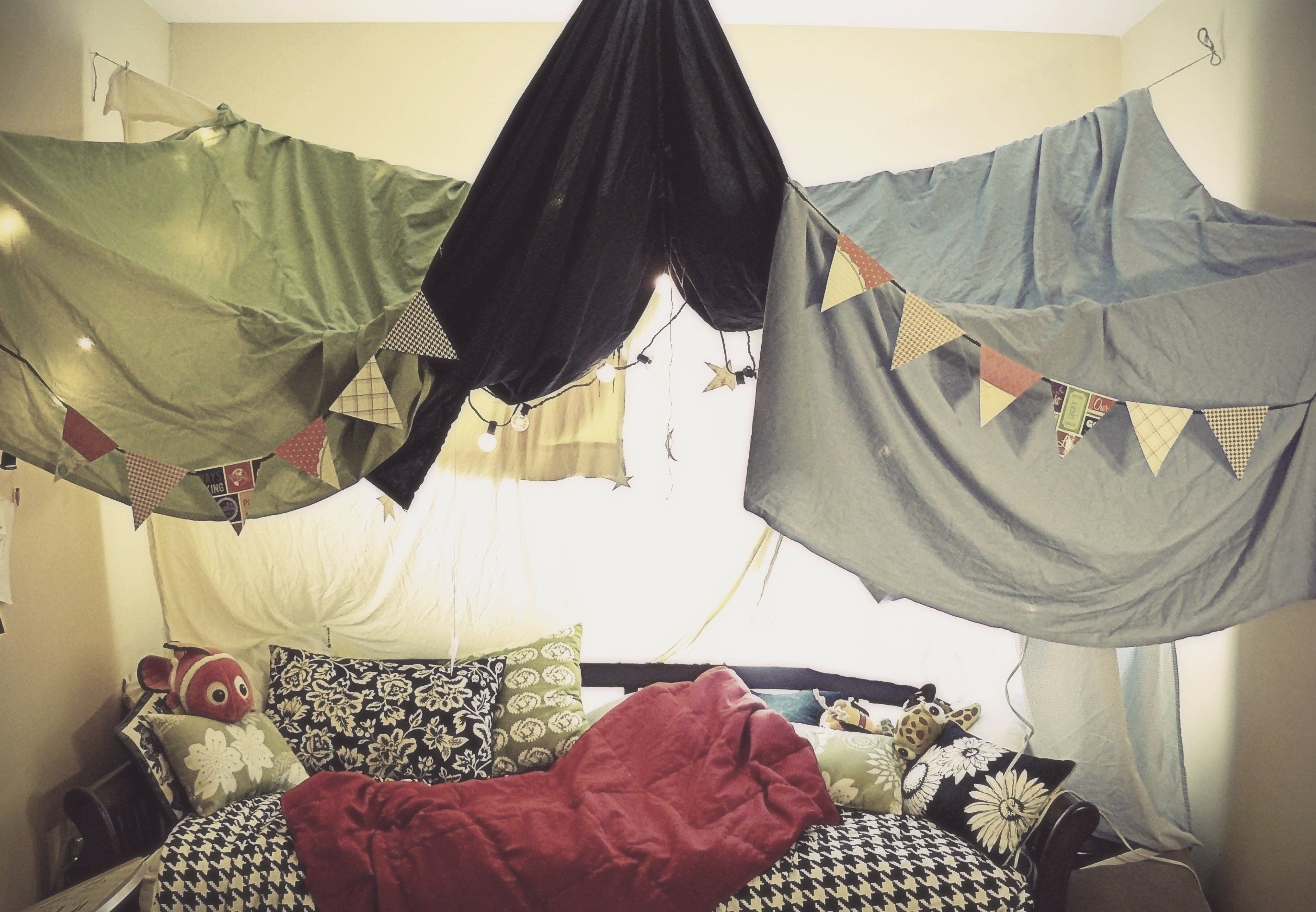 Let S Hang Sheets From The Ceiling Indoor Tents Tent Indoor