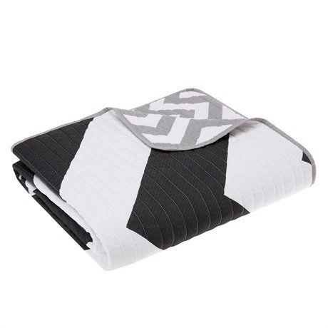 "Mizone Libra Oversized Quilted Throw Blankets, Black, 60"" x 70"" Mi-Zone"