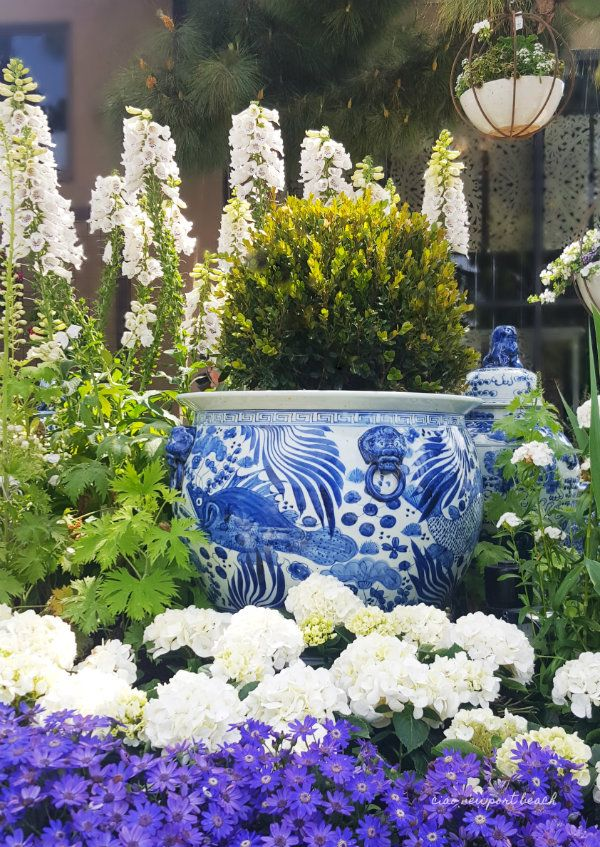 Secret Garden: Ciao! Newport Beach: Inspiration: Blue And White In The