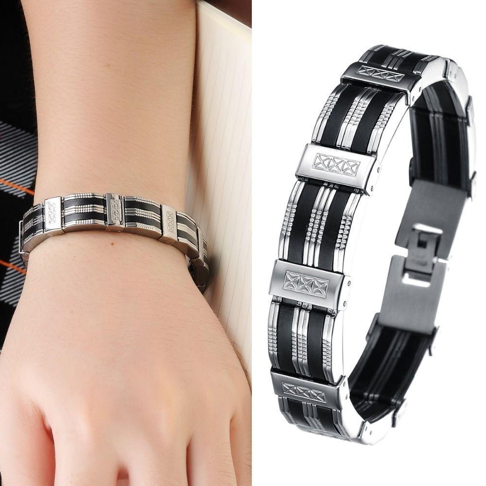 Personalized fashion menus jewelry boy men bracelet wristlet metal