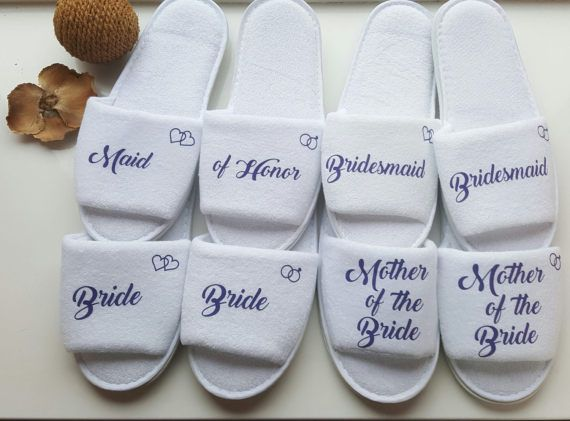 0e73687914d Bridesmaid Slippers, Personalised Luxury Wedding Slippers, Bridal ...