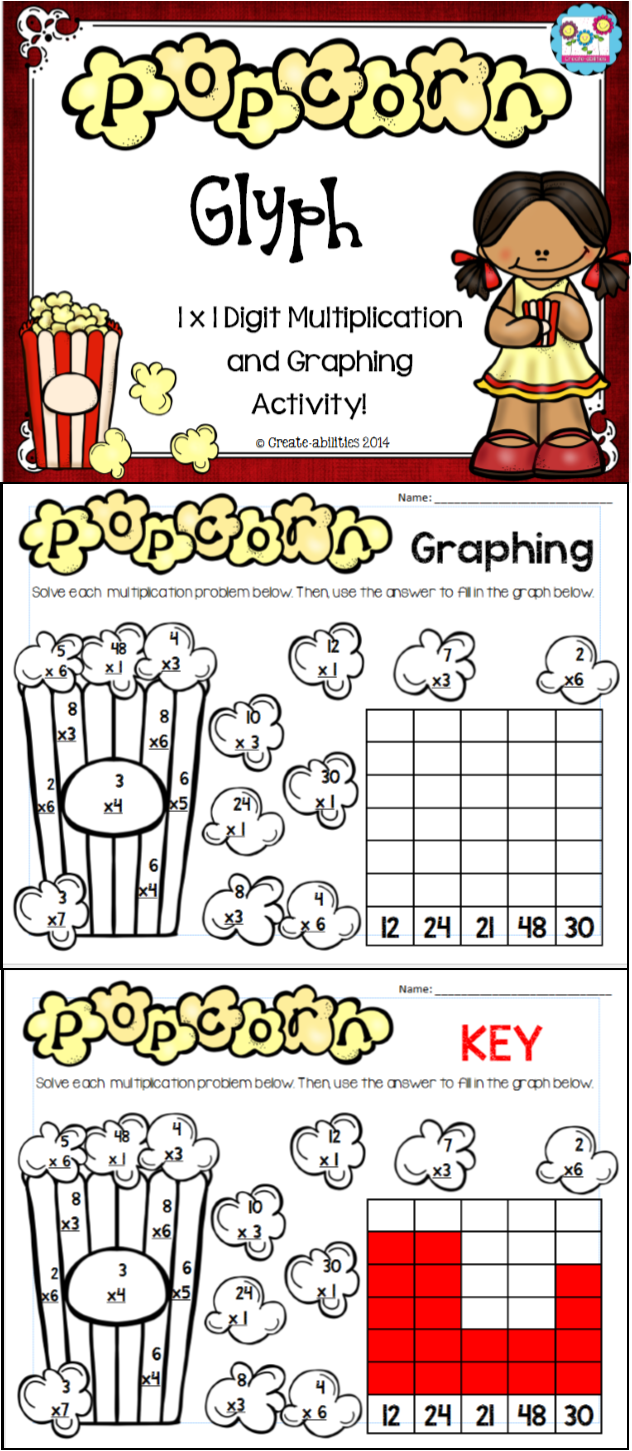 Multiplication Graphing Freebie Thirdgradetroop Com