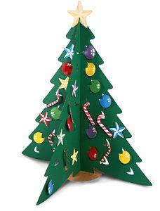 Rbol de navidad reciclable y original para hacer - Manualidades navidad arbol ...