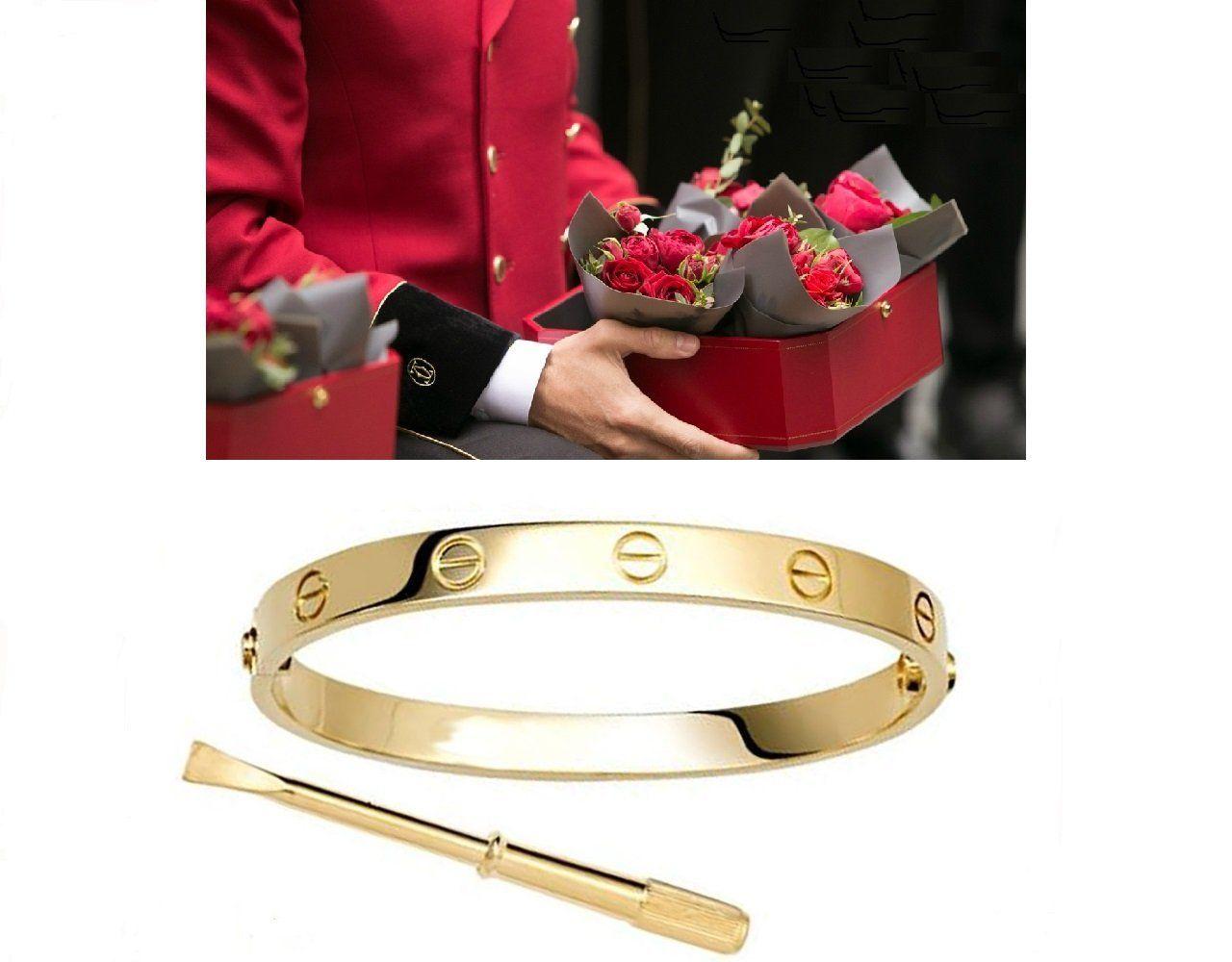 Bracelet jonc Bracelet jonc, Avec Vis en relief, plaqué or Love Amour Vis  Tournevi 783352f10e19