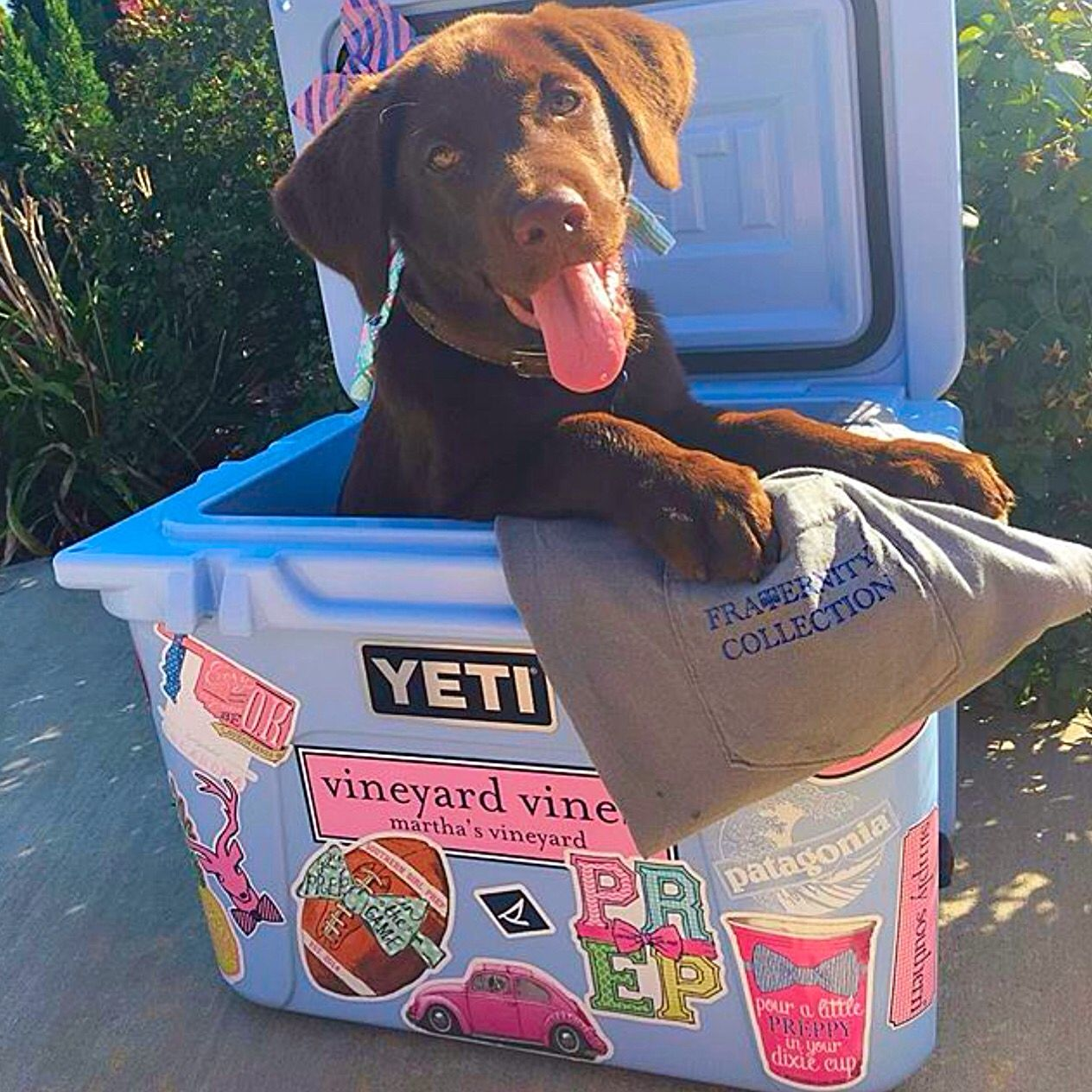 The Perfect Yeti Cooler Has Lots Of Southern Girl Prep Stickers