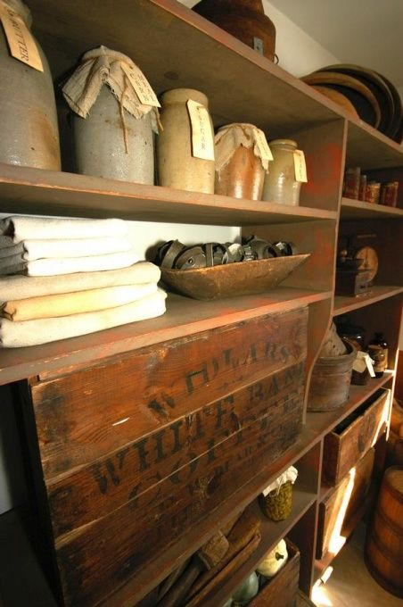 1800s Country Homes: Primitive Kitchen, Early 1800s Primitive Kitchen