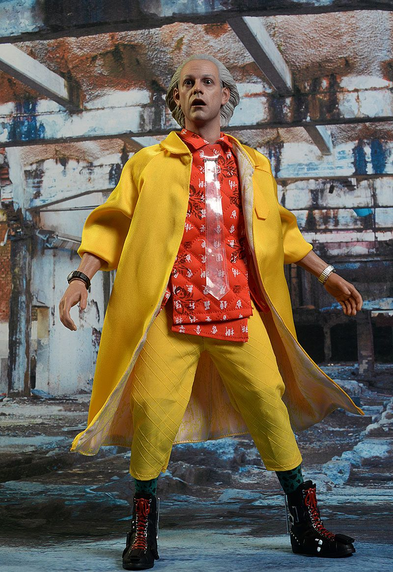 Doc brown back to the future sixth scale action figure
