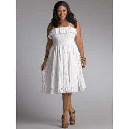 eyelet Plus Size Wedding Dresses | White eyelet dress plus size ...