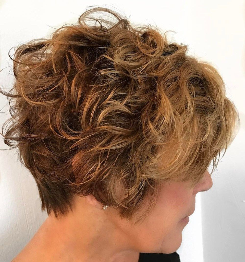 classy and simple short hairstyles for women over curly