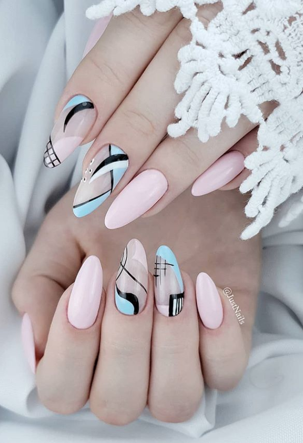 48 Hot Short Acrylic Almond Nails Design You Must Try Almond Nails Designs Almond Acrylic Nails Almond Nails Pink