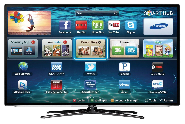 Samsung Un60es6100 60 Inch 1080p 240 Clear Motion Rate Slim Led Hdtv Black Samsung Smart Tv Led Tv Smart Tv