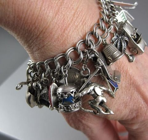 Vintage Sterling Silver Charm Bracelets Tell Stories
