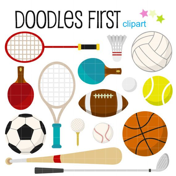 This Clipart Set Includes The 15 Following Elements 1 X Badminton Racket 1 X Shuttlecock Tennis Racket Art Cupcake Toppers Paper Basketball Training Equipment