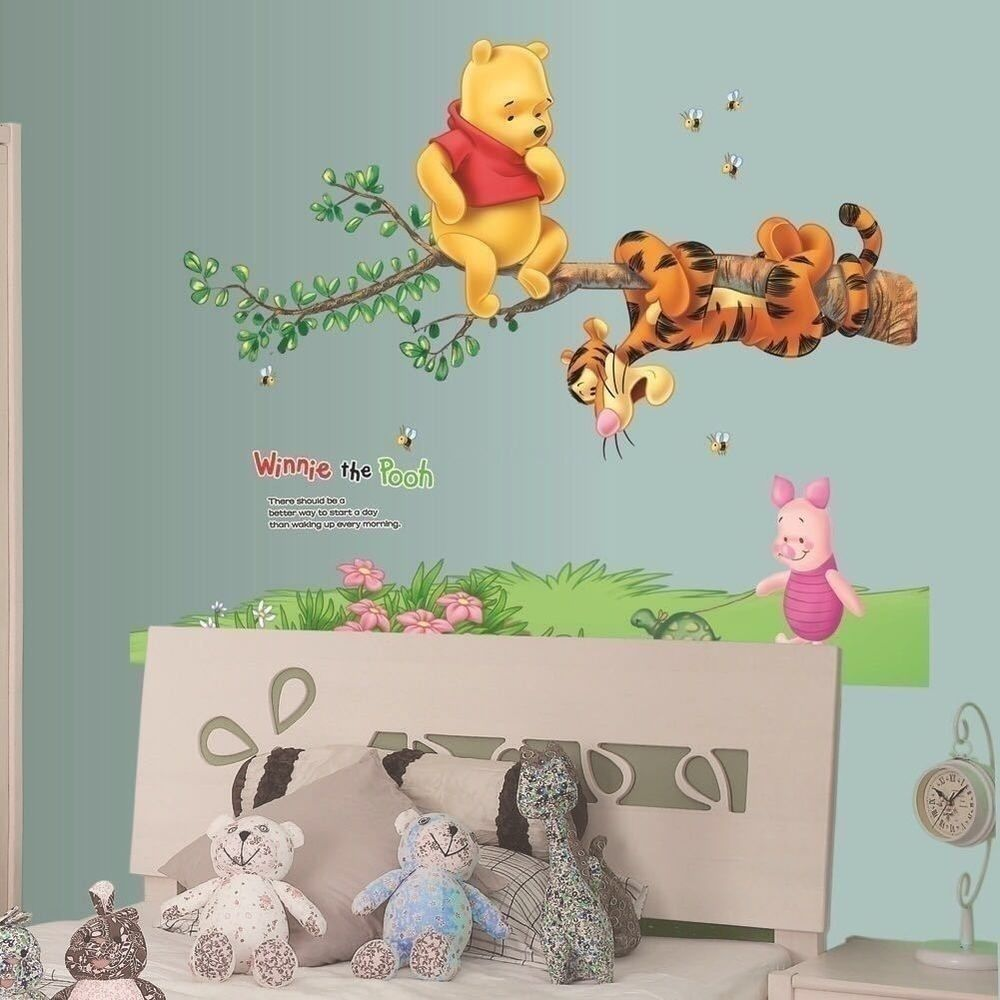 Details about nursery winnie the pooh wall art stickers decal tigger