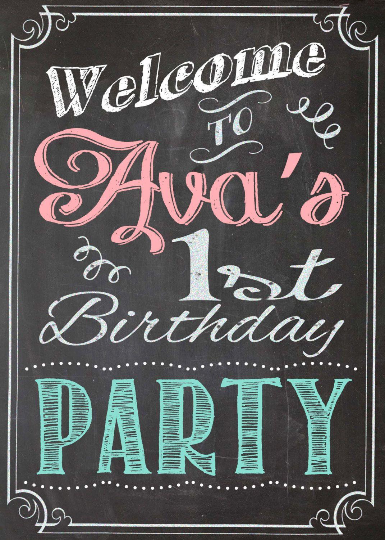Bridal+shower+chalkboard | ... Chalkboard Welcome Sign Birthday Party Bridal or Baby Shower Wedding