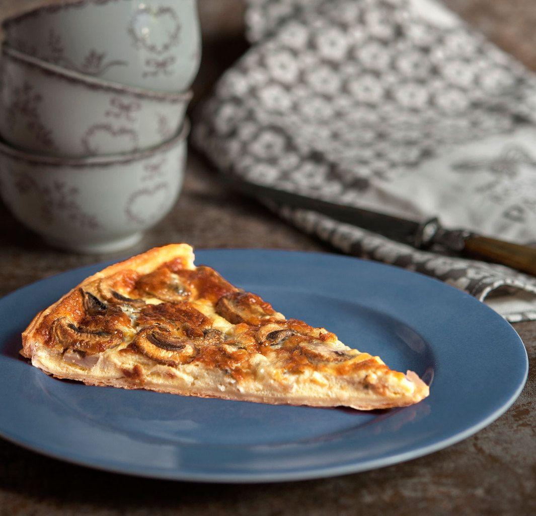 Tarte fine aux champignons et au roquefort   Tarte fine ...