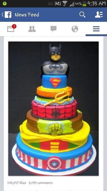 Boy Cake Boy Birthday Cake Superhero Cake Cake