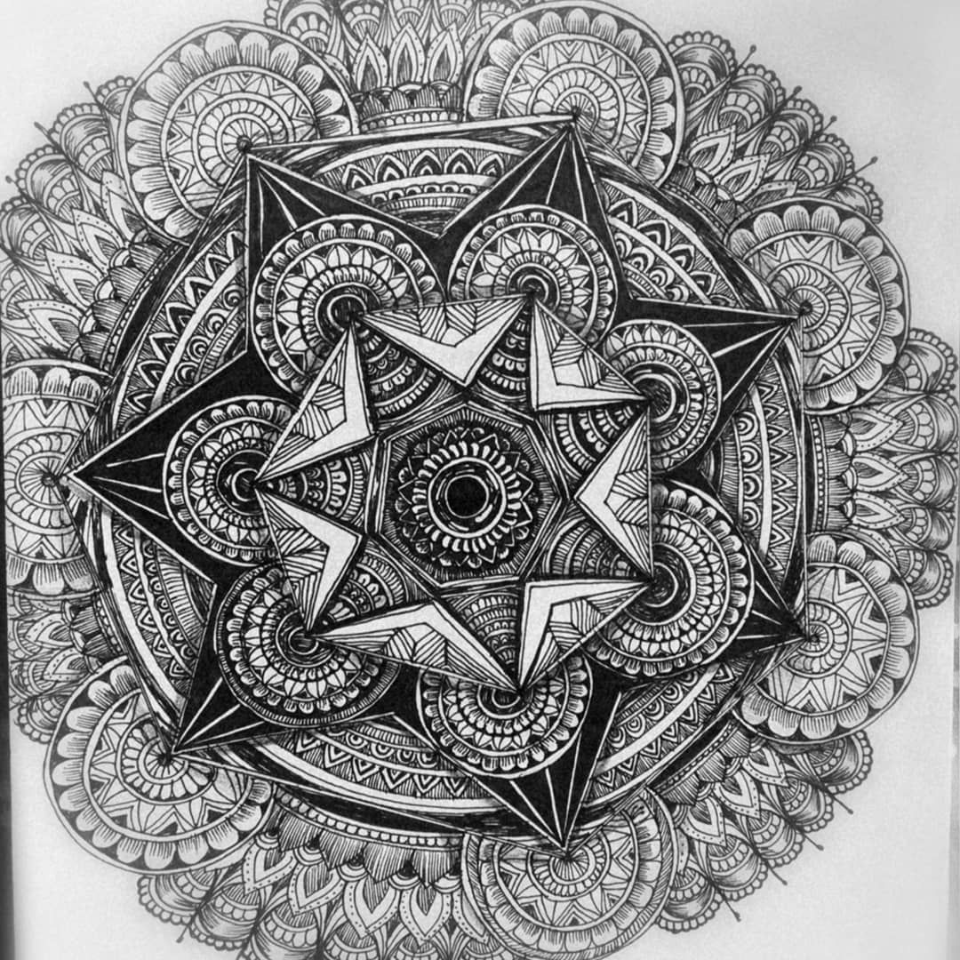 Anon Star On Instagram Mandala 2 Reference Pinterest I Can Never Get Tired Of Doing Complicated Mandalas It S So Soothing And Calming I Ve Found Tekenen