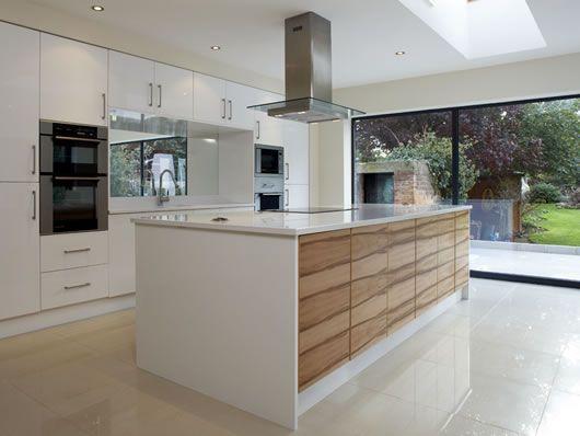walnut veneer kitchen cabinets - Google Search | Kitchen ...