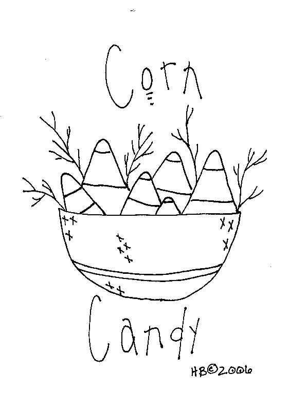 Candy Corn Halloween Embroidery Pattern Transfer Rolling Out