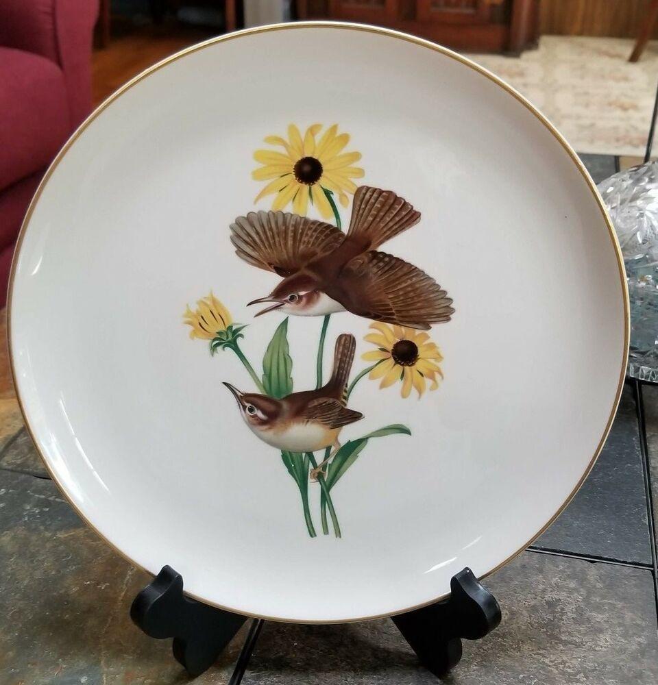 Syracuse China American Song Birds Carolina Wren Plate
