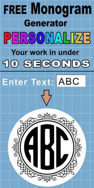 Download Online Monogram Maker (Download in SVG Format) | Monogram ...