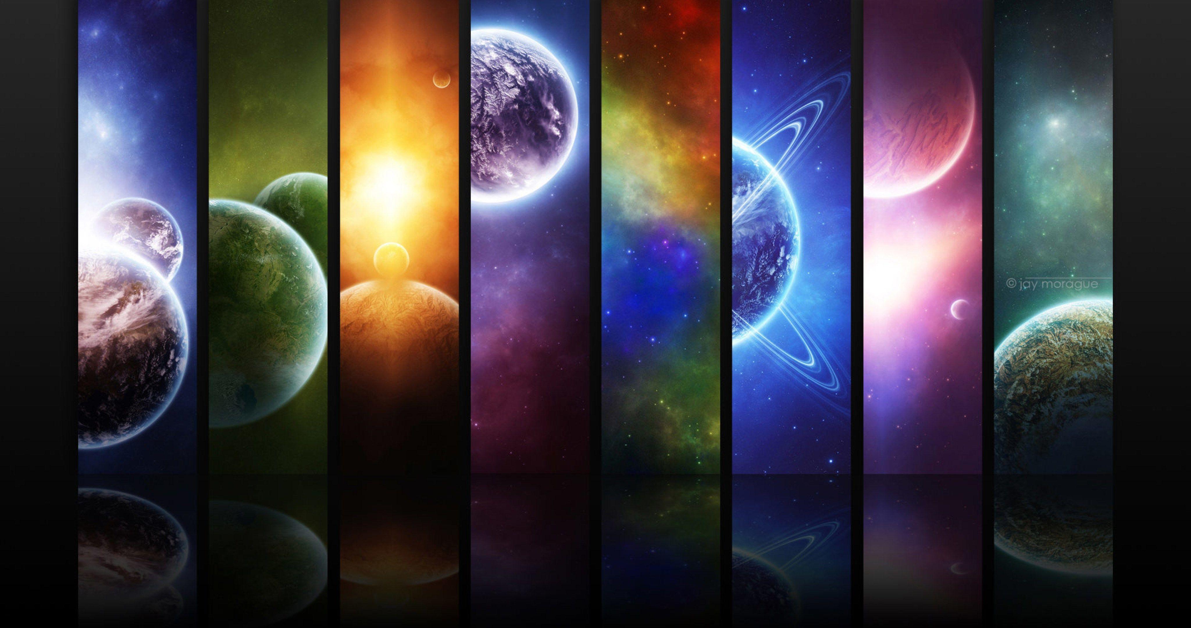 Planets Art 4k Ultra Hd Wallpaper Solar System Wallpaper Cool Desktop Backgrounds System Wallpaper