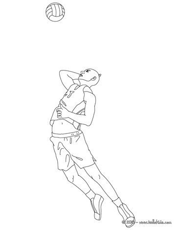 Volleyball Jump Serve Coloring Page More Sports Pages On Hellokids
