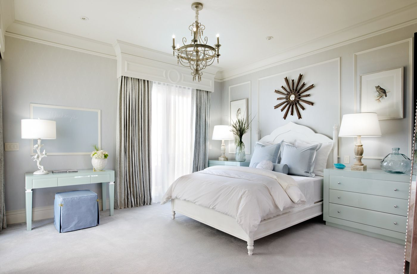 Blue And White Bedroom Design Impressive Tara Dudley Interiors  Wwwtaradudleyinteriors  Luxury Inspiration Design