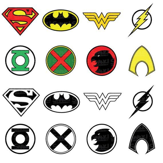 Justice League Superhero Symbol Clipart Svg Png Eps Etsy In 2021 Superhero Symbols Justice League Justice League Symbols
