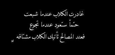 عند المصالح تاتيك الكلاب Quotes Words Arabic Words