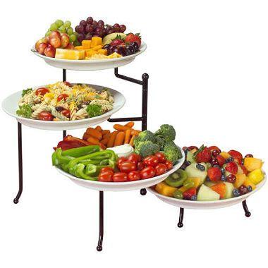 Venice 4 Tier Swivel Buffet Server Buffet Server Wedding Shower Food Buffet