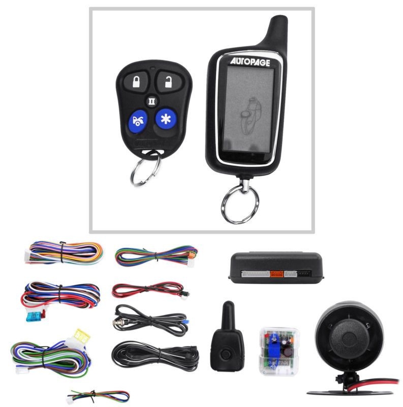 New Autopage RF425A 2-Way Car Alarm Security System w/ Keyless ...