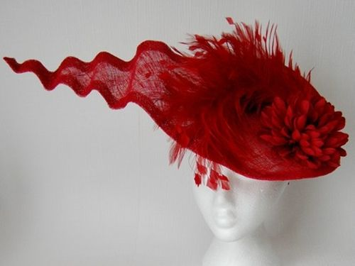 Fiona Mangan Millinery Red Wave