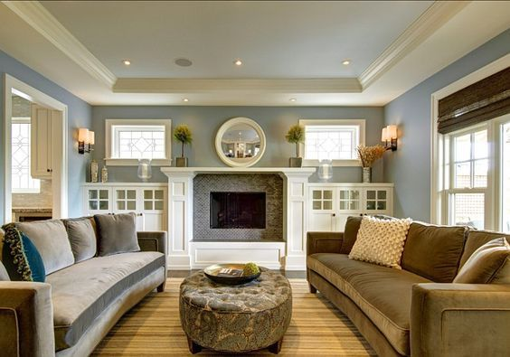 Real Life Rooms Decorating Around A Fireplace With Built Ins Craftsman Living Rooms Living Room Built Ins Fireplace Built Ins