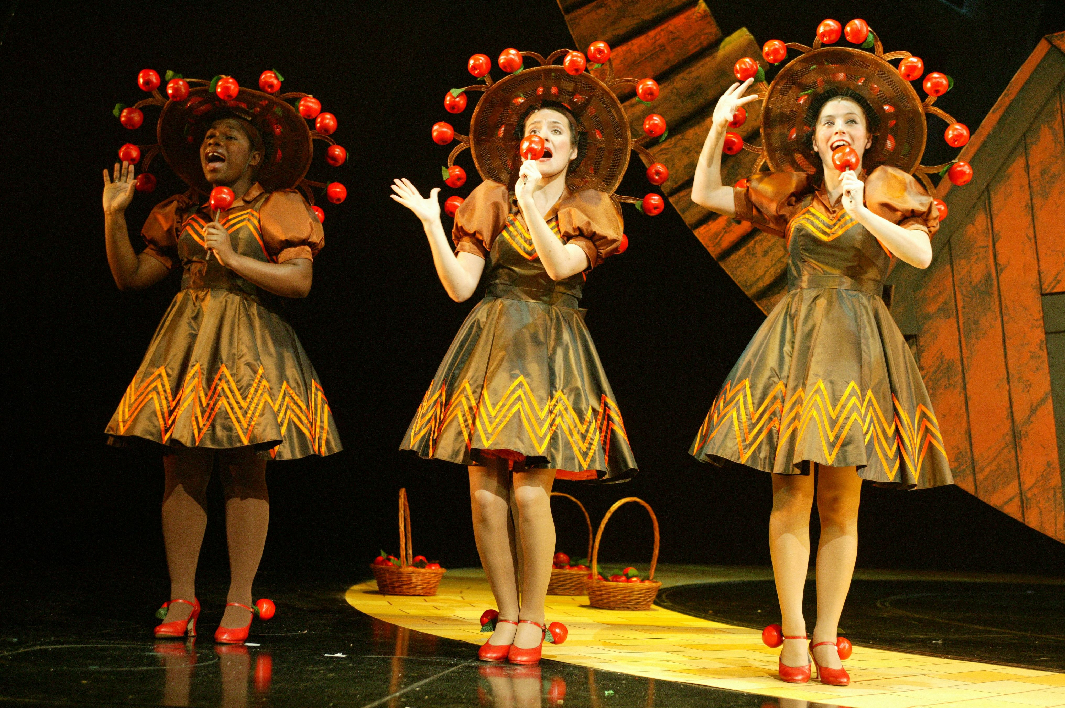 The Wizard Of Oz Apple Tree costumes on stage. Costume Designer ...