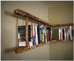 Ladder used as a bookshelf