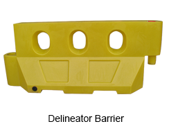 Centurion Delineator Barrier Waterfilled Plastic Barriers