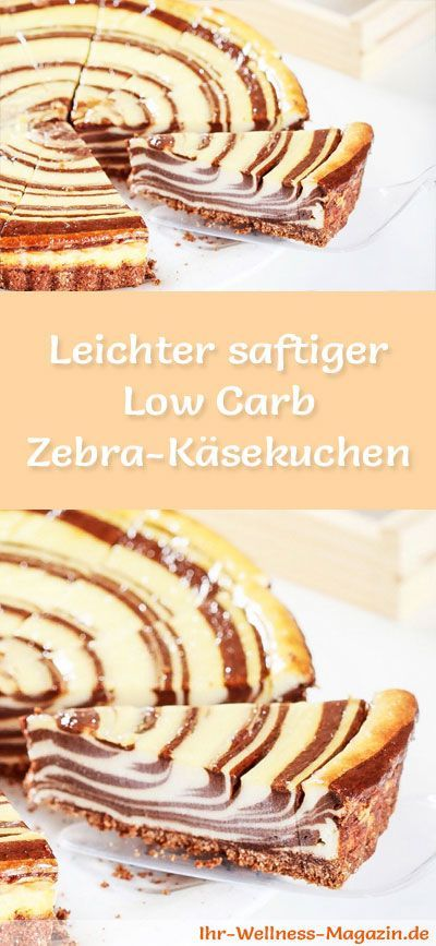 Light juicy low carb zebra cheesecake - recipe without sugar - Recipe for a light, juicy low carb