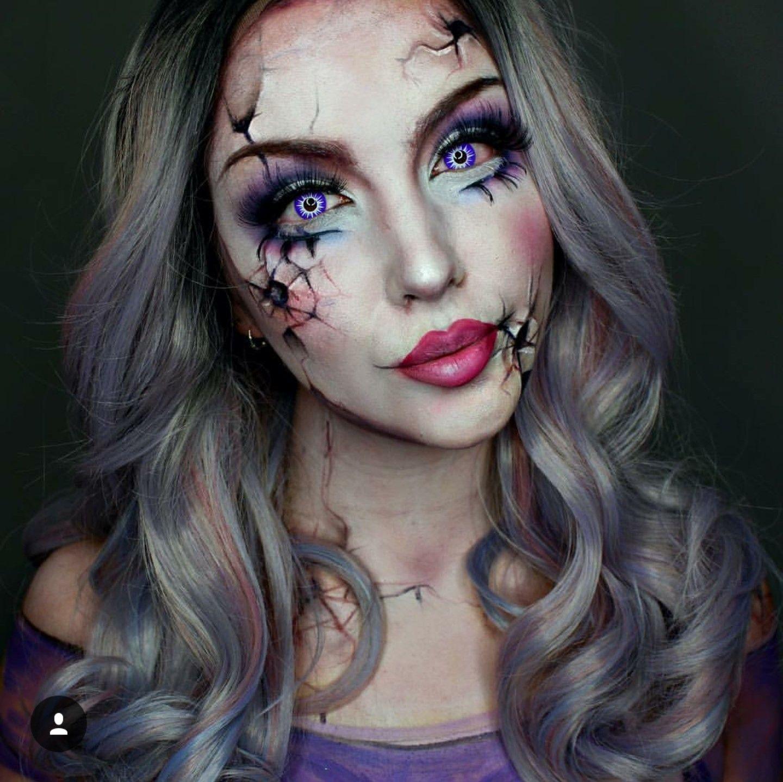 Broken Doll Doll Makeup Halloween Creepy Halloween Makeup Halloween Makeup Looks