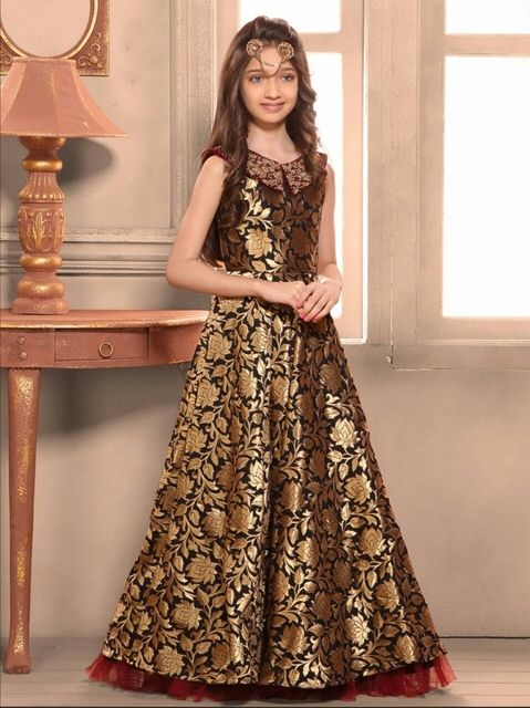 f4adf1f70 Golden Color Girl s Gown
