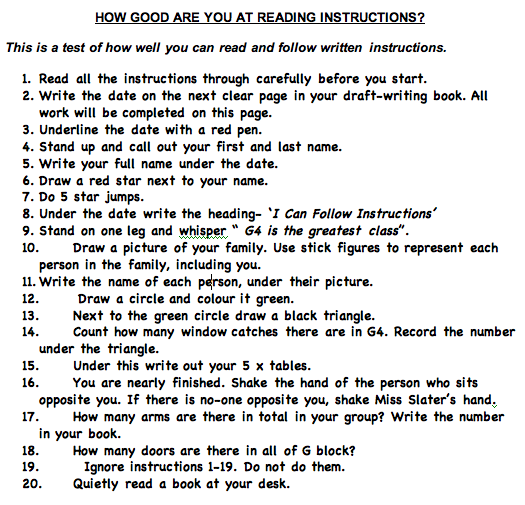 follow directions worksheet Bing images sunday school – Following Directions Worksheet Trick