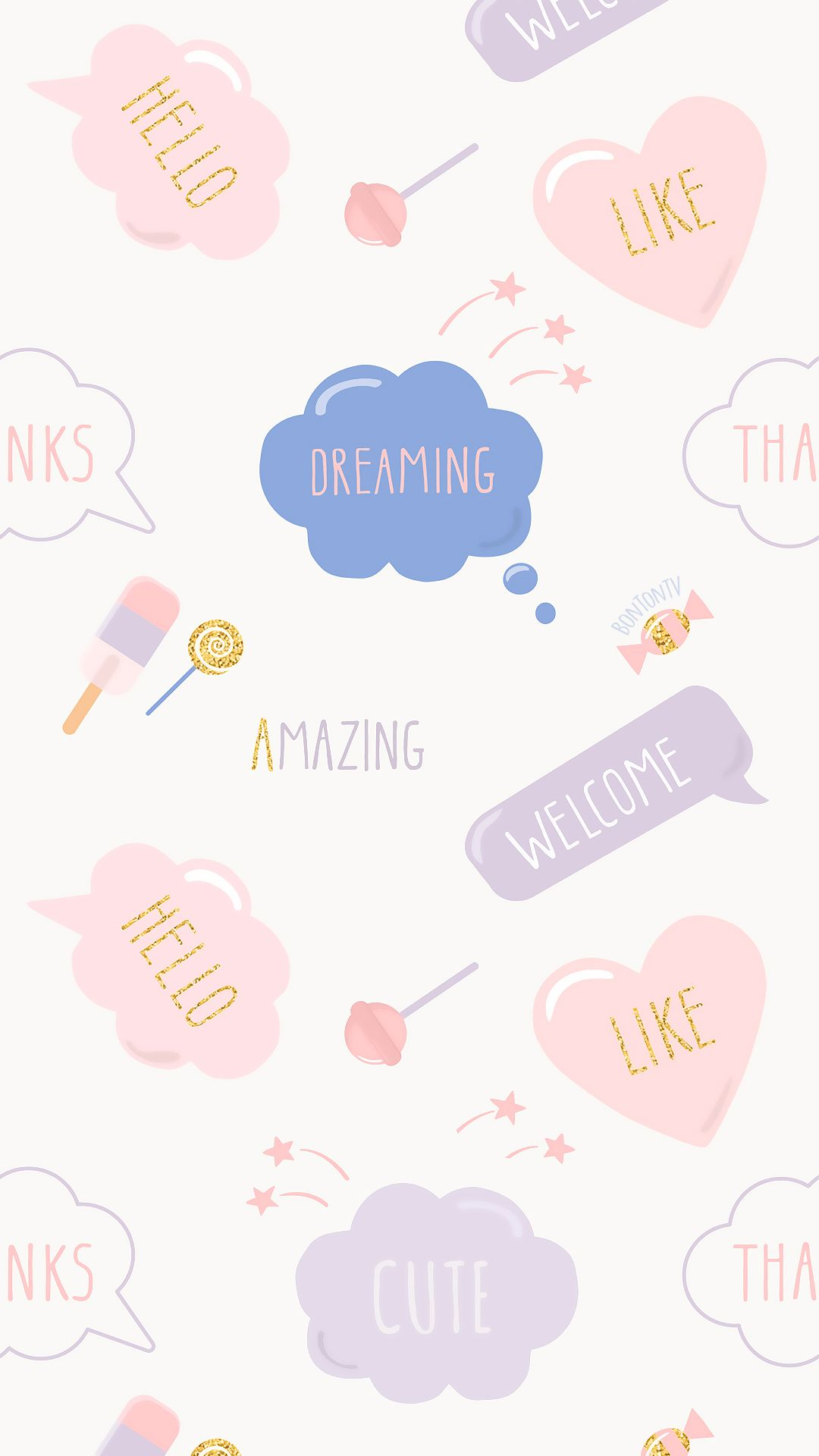 Phone Wallpapers Hd Cute Pastel Text By Bonton Tv Free