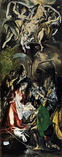 La adoración de los pastores es una obra de El Greco, realizada entre 1612 y 1614 durante su último periodo toledano. Se exhibe en una de las salas del Museo Nacional de Bellas Artes en Bucarest, Rumania. Pertenecía al conjunto pintado para el retablo de doña María de Aragón. Adoración de los pastores Bucarest(2).jpg