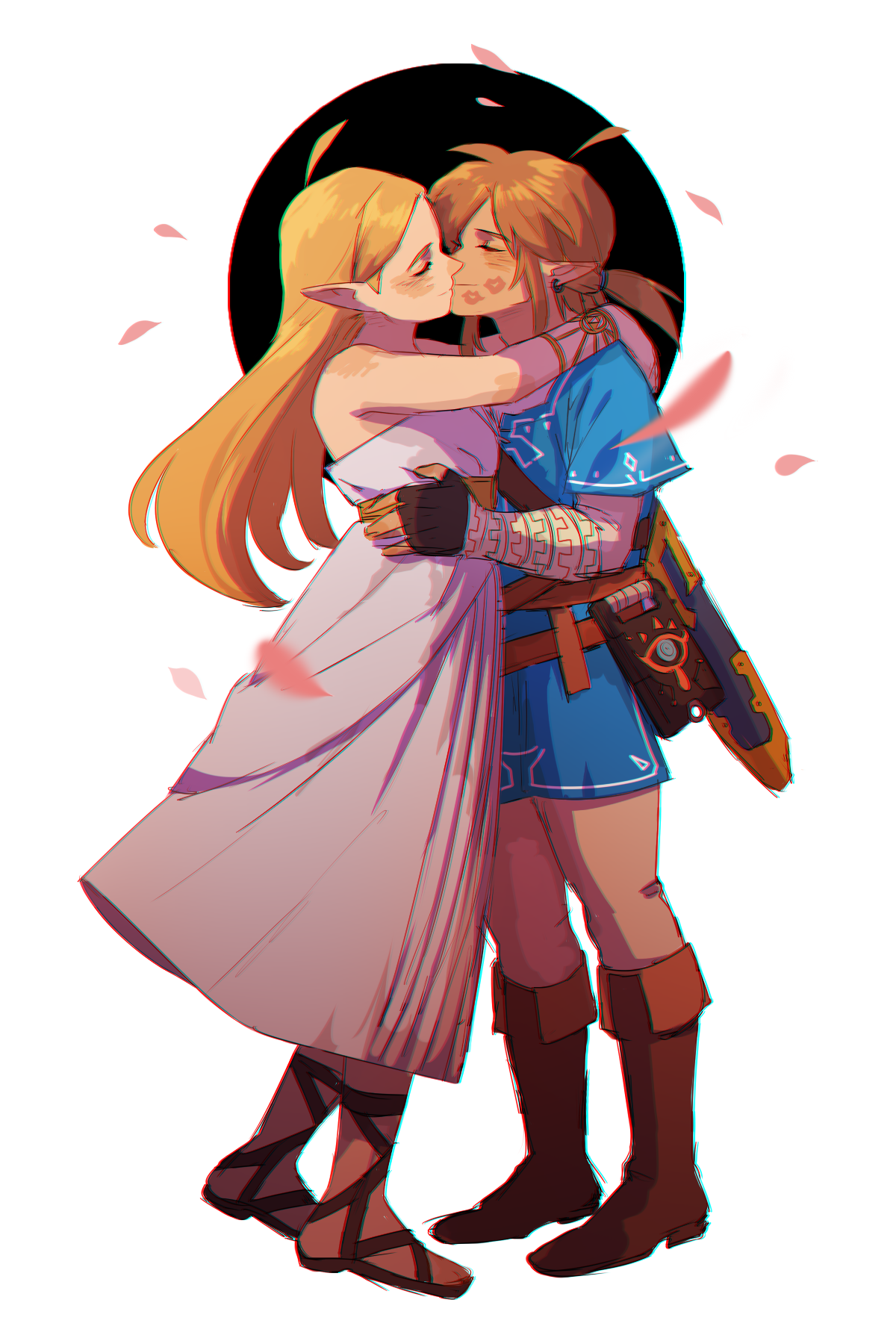 does link ever kiss zelda